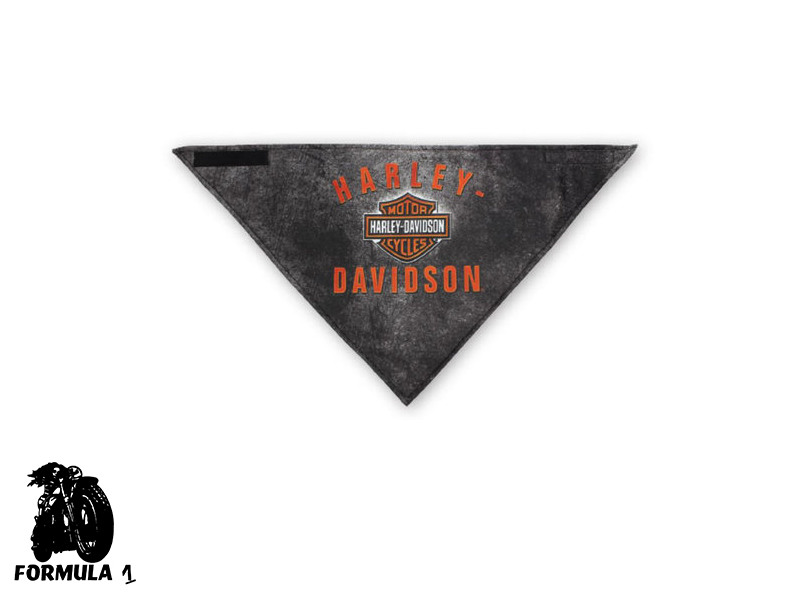 Harley-Davidson® Deadly Jaw 3-in-1 Convertible Bandana poliestere nero.